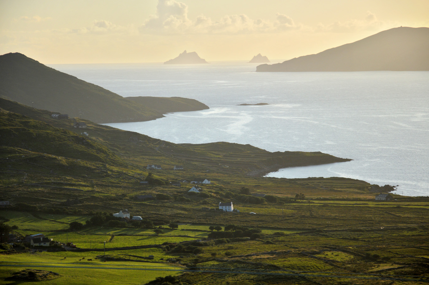 Skellig Islands seen from Ring of Kerry
