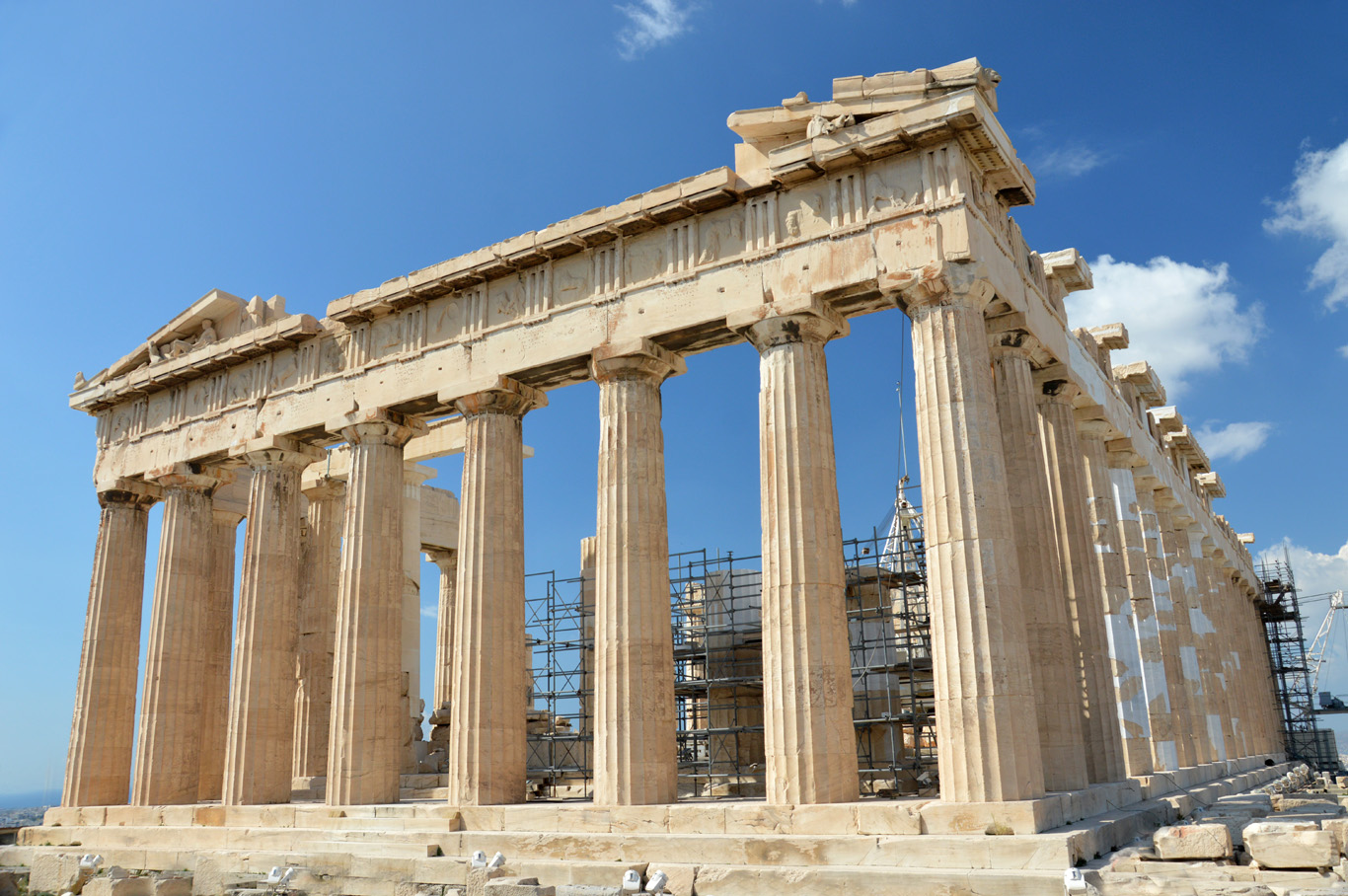 The Parthenon under renovation