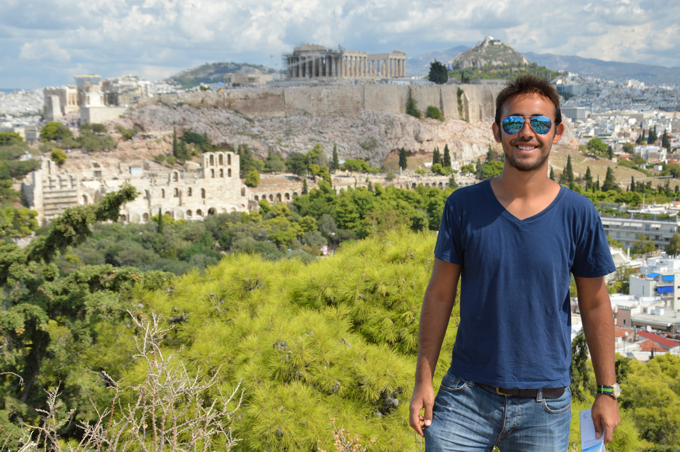 With Acropolis in the background