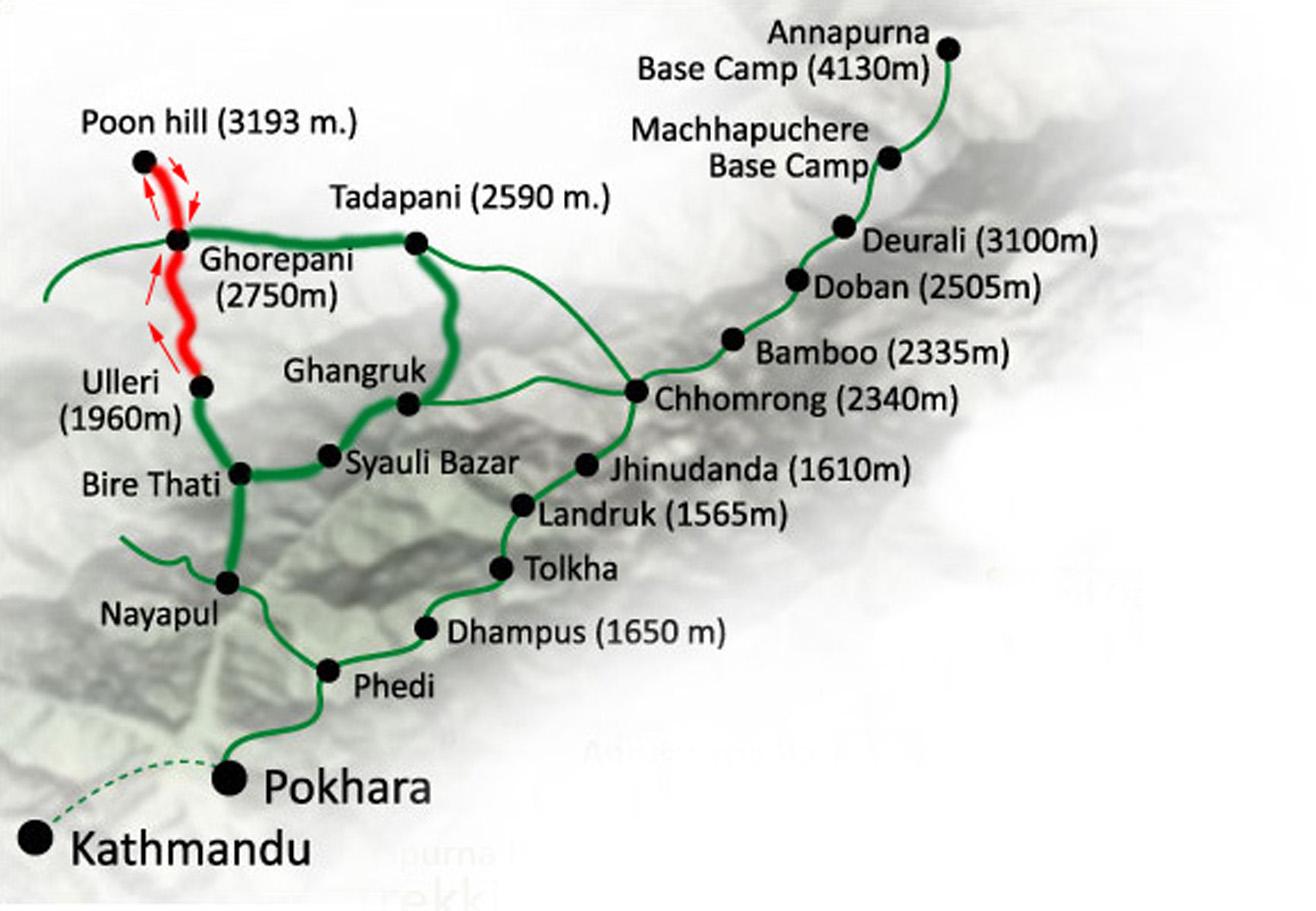 Poon Hill Trek Map