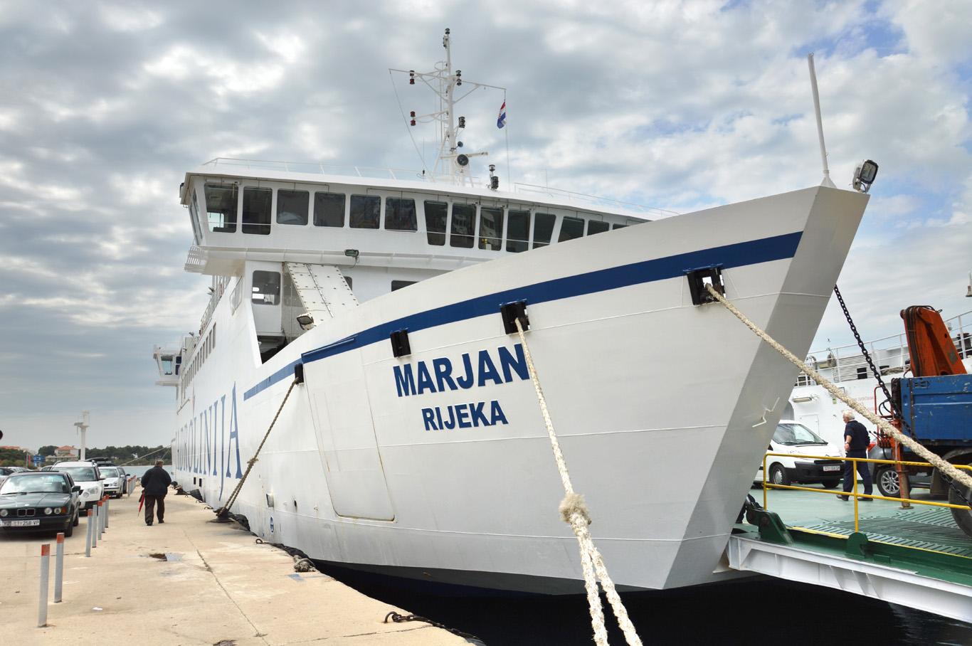 Supetar port - the ferry