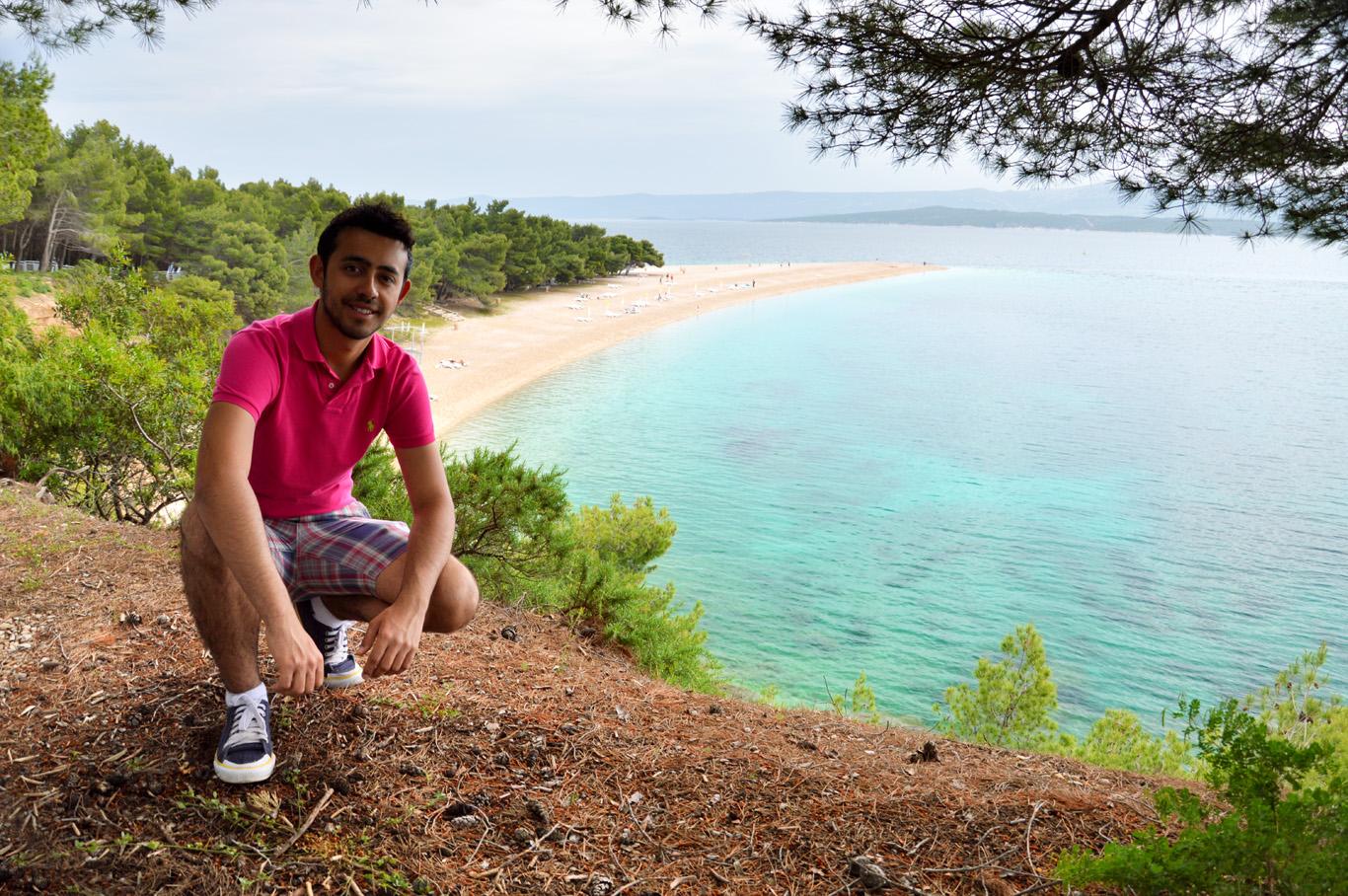 At Zlatni Rat beach