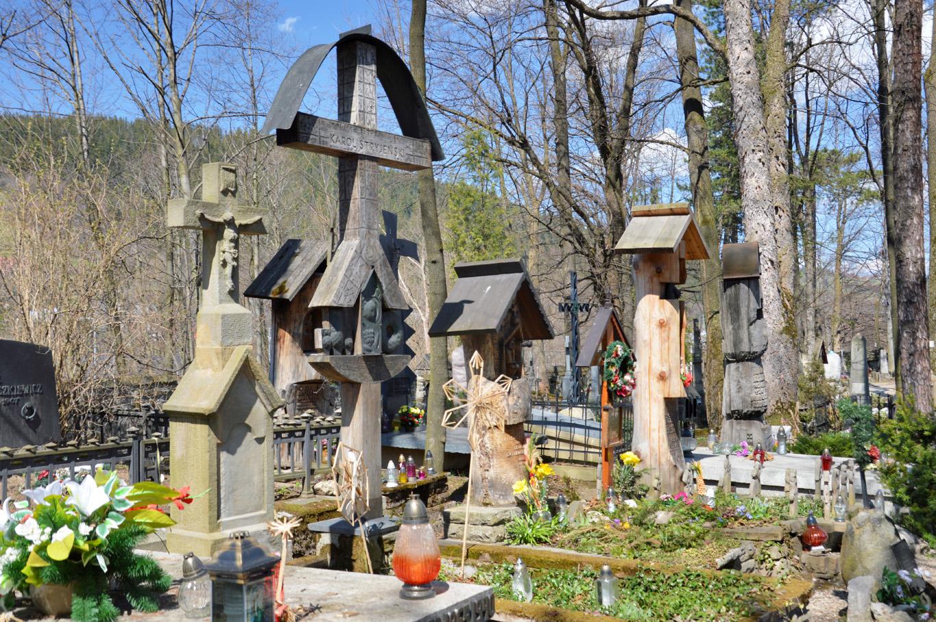Wooden cemetery