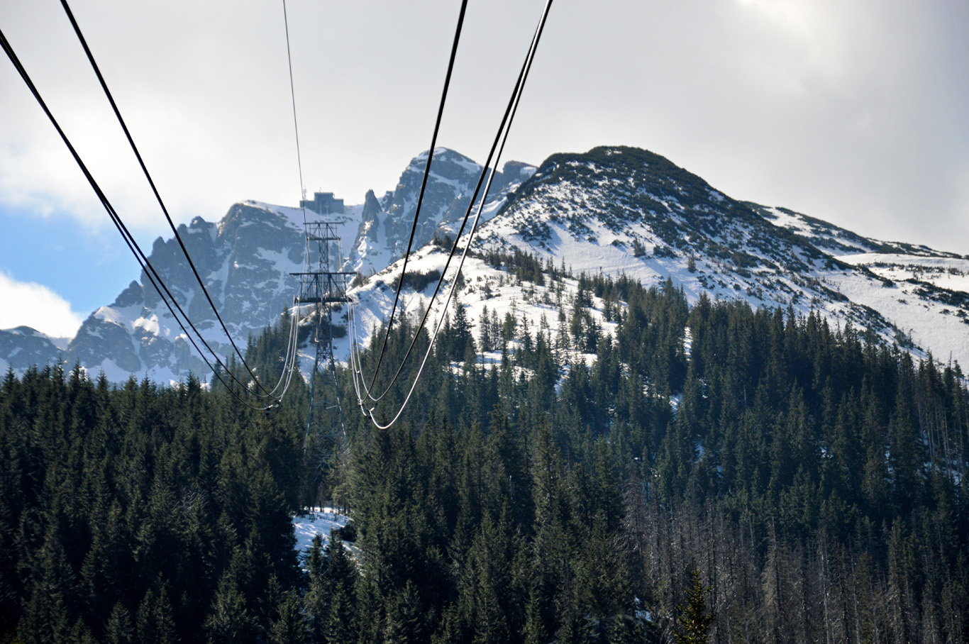 View from the cable car towards Kasprowy Wierch