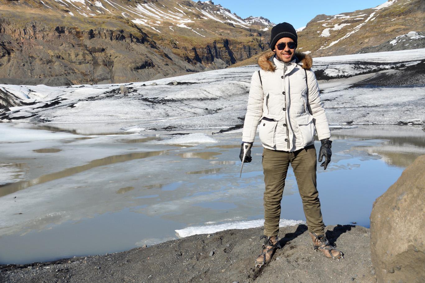 Sólheimajokull glacier - before the hike
