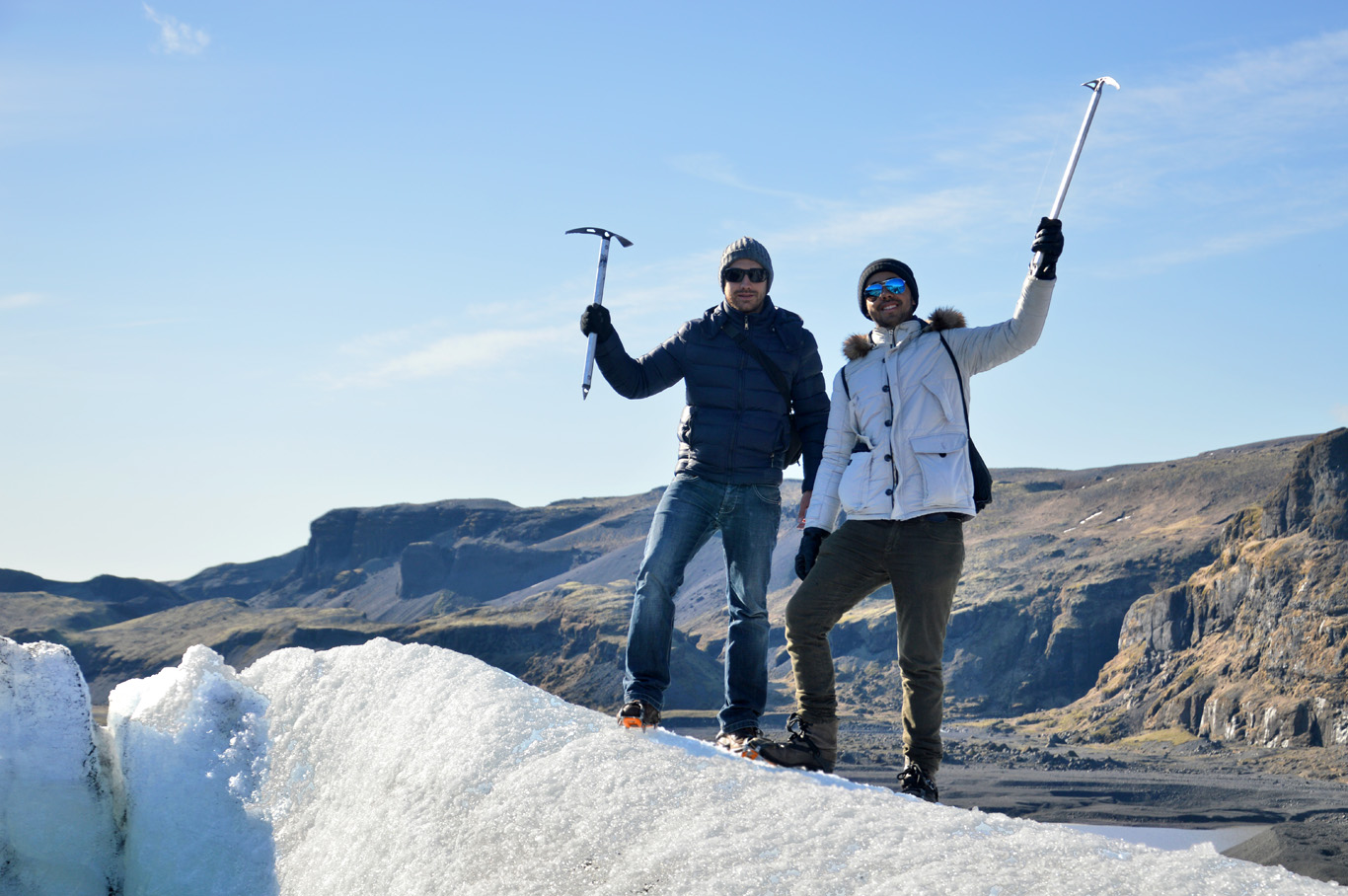 On top of the glacier!