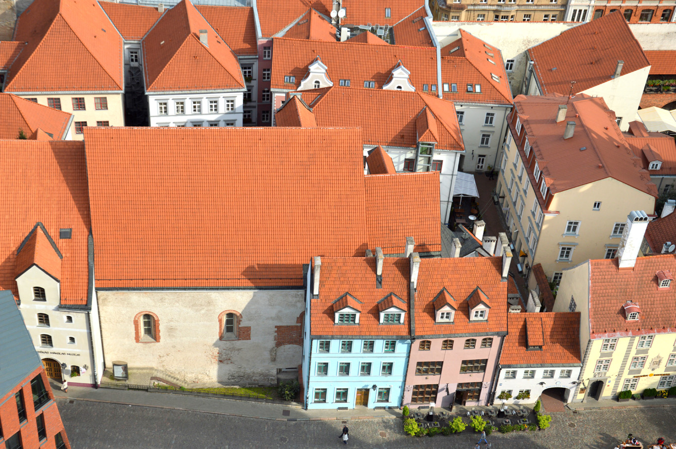 Red roofs of the old town - view from the St. Peter's Church tower