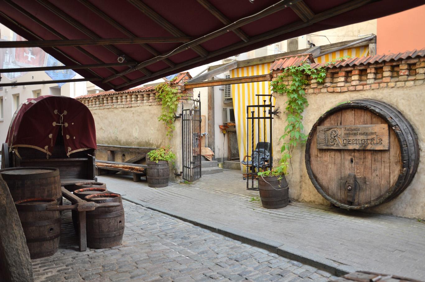 Beautiful medieval restaurant