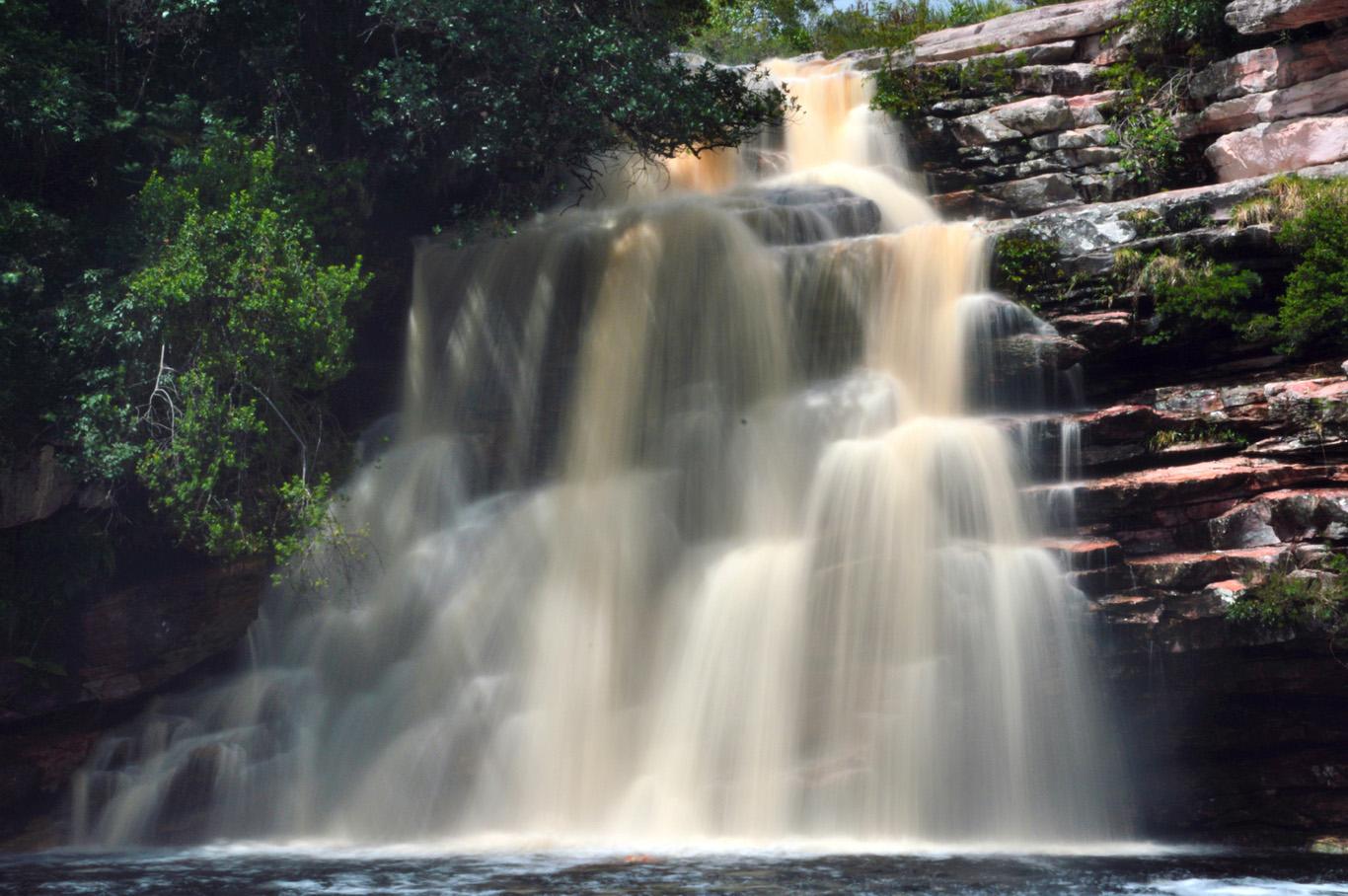 Poco do Diablo waterfall - long exposure photo
