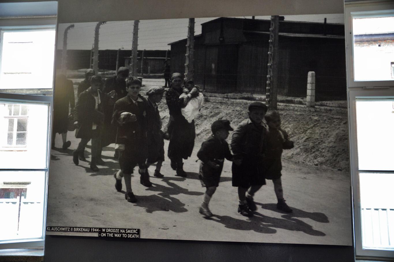 Children marching to their death