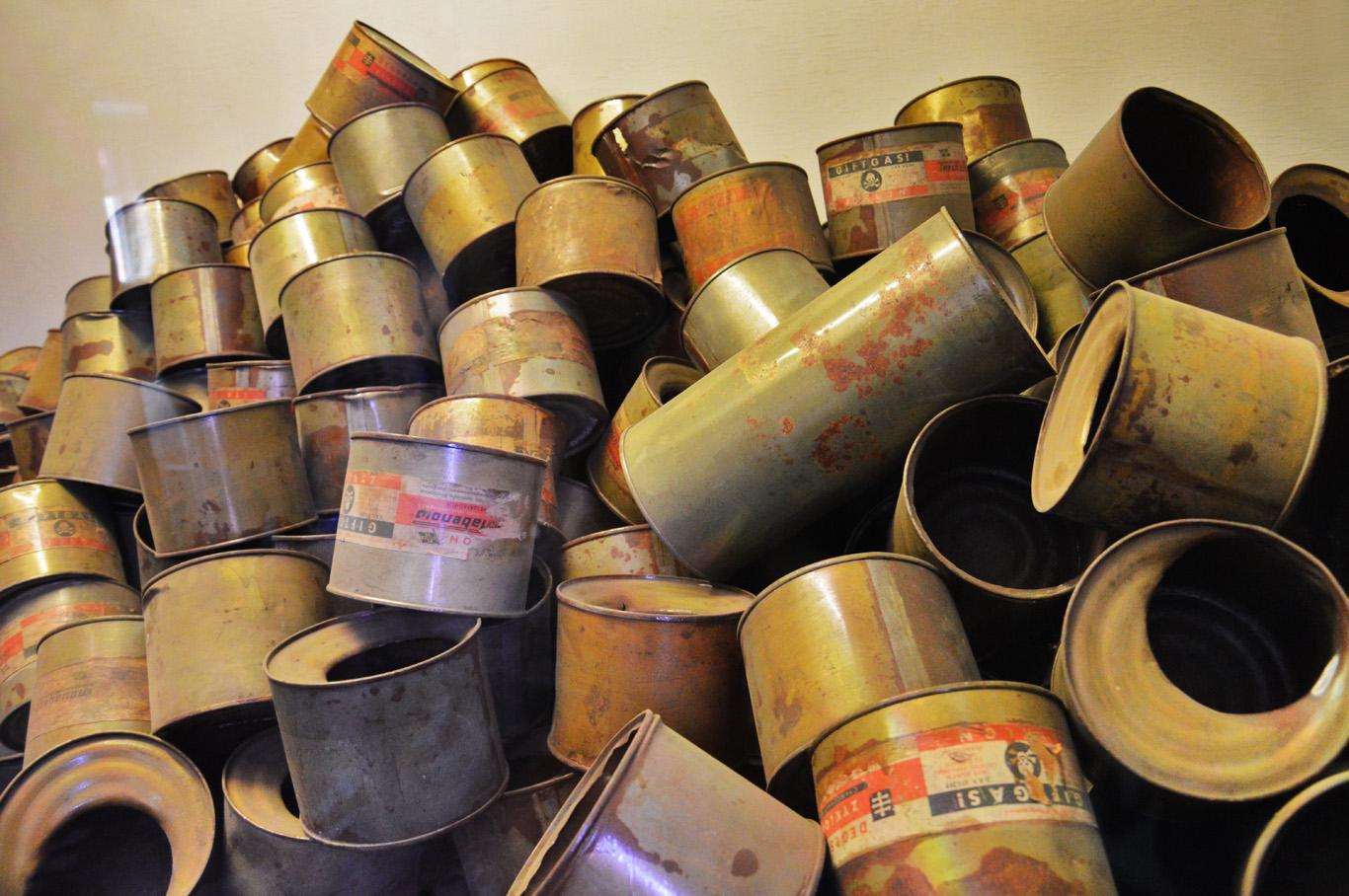 Original Zyklon B cans