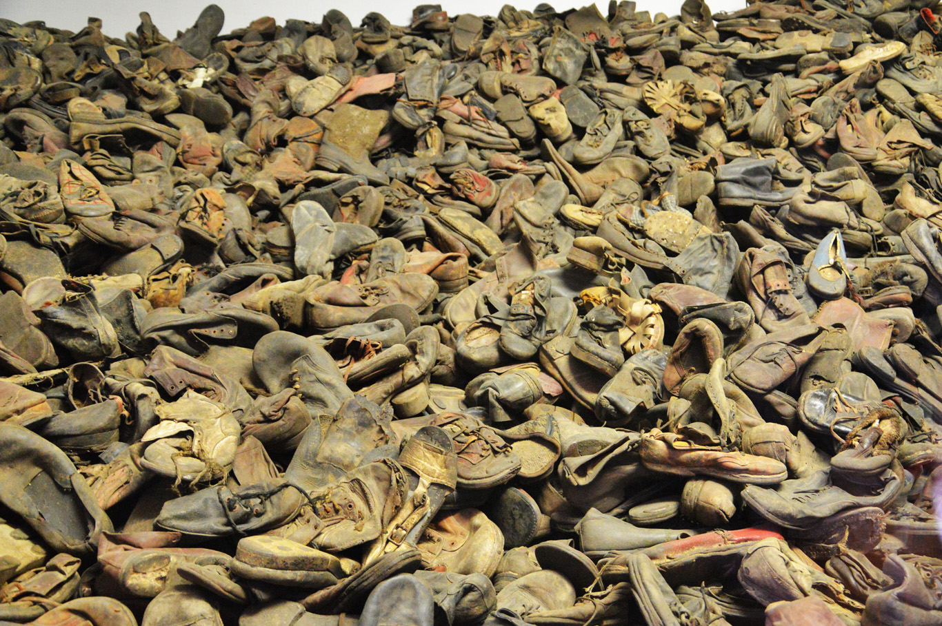 Hundreds of shoes