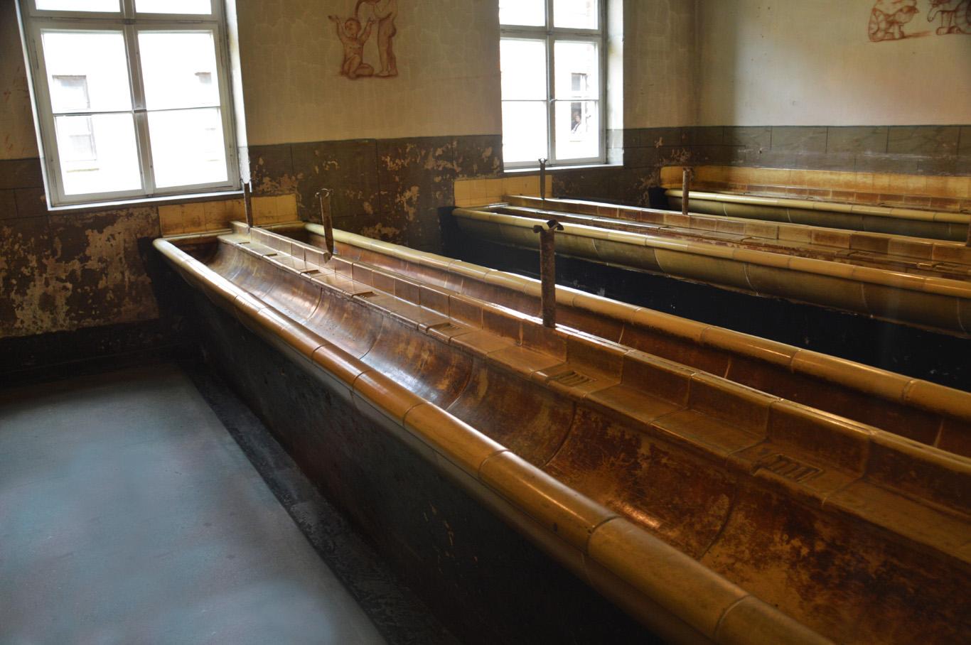 Bathroom in Auschwitz I