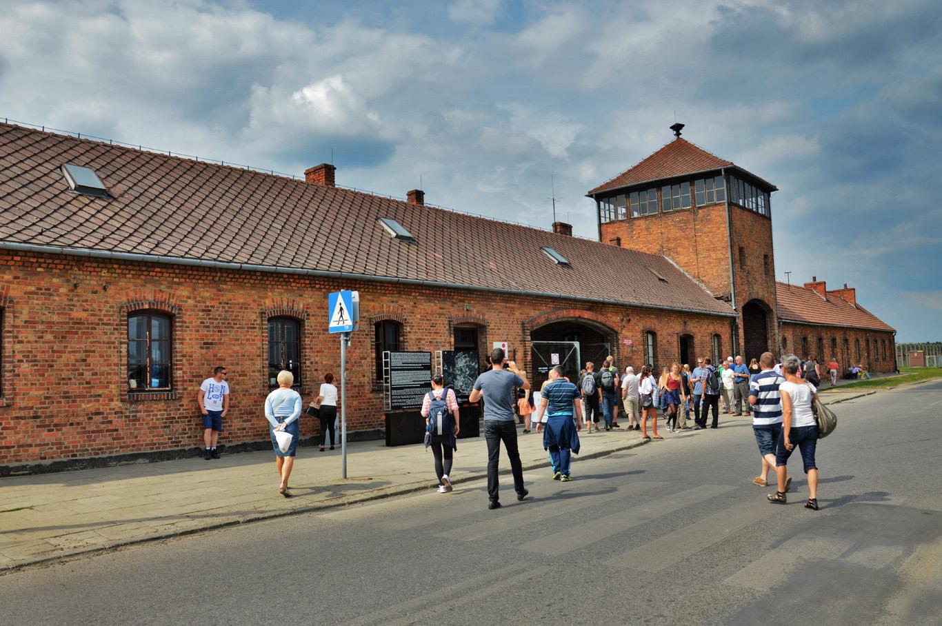Birkenau - the entry gate