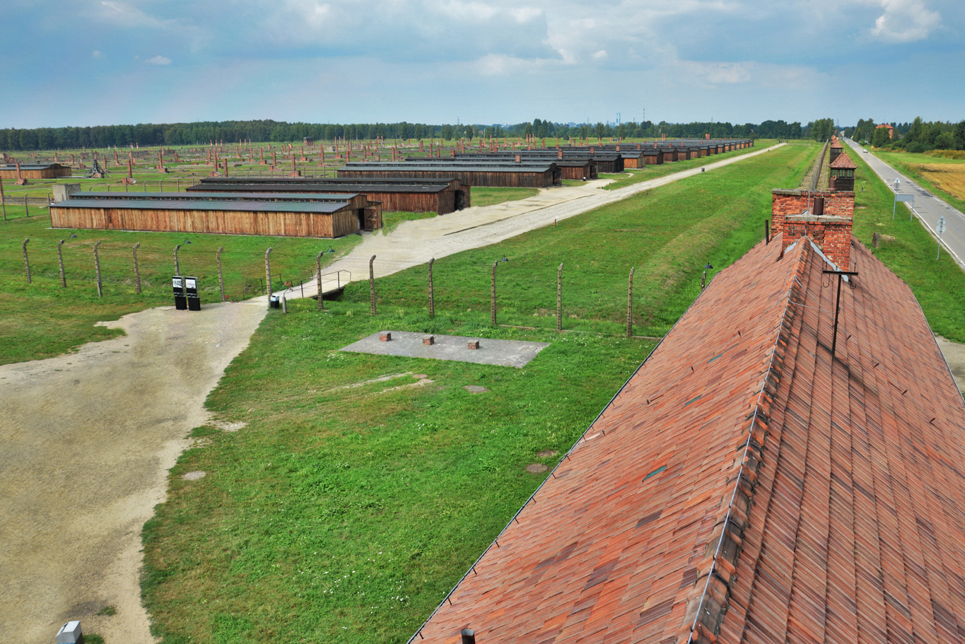 The view over the camp in Birkenau