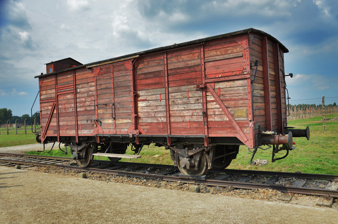 One of the railway cars used for transporting prisoners