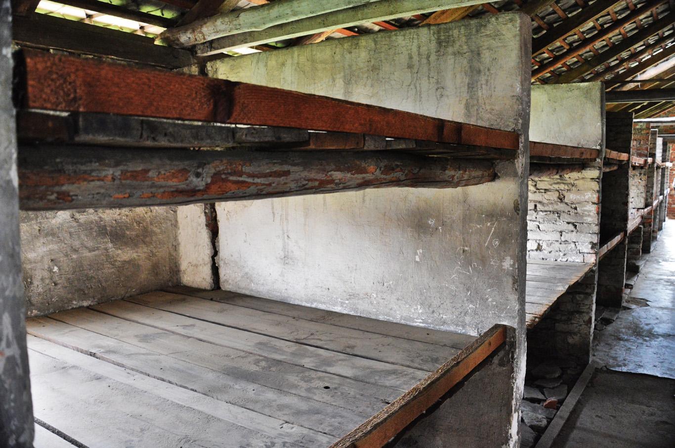 Bunk beds in Birkenau