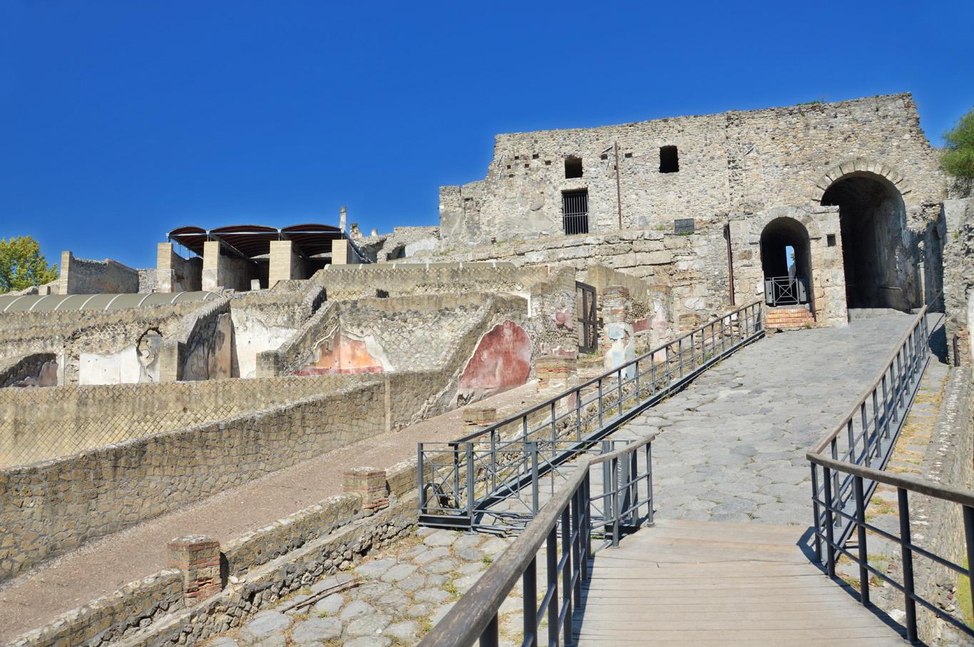 The main gate to Pompeii