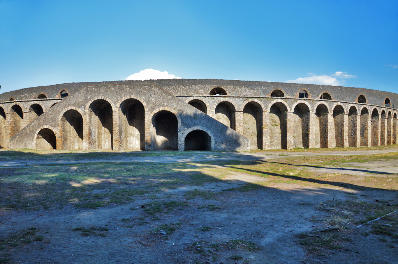 The walls of the amphitheater