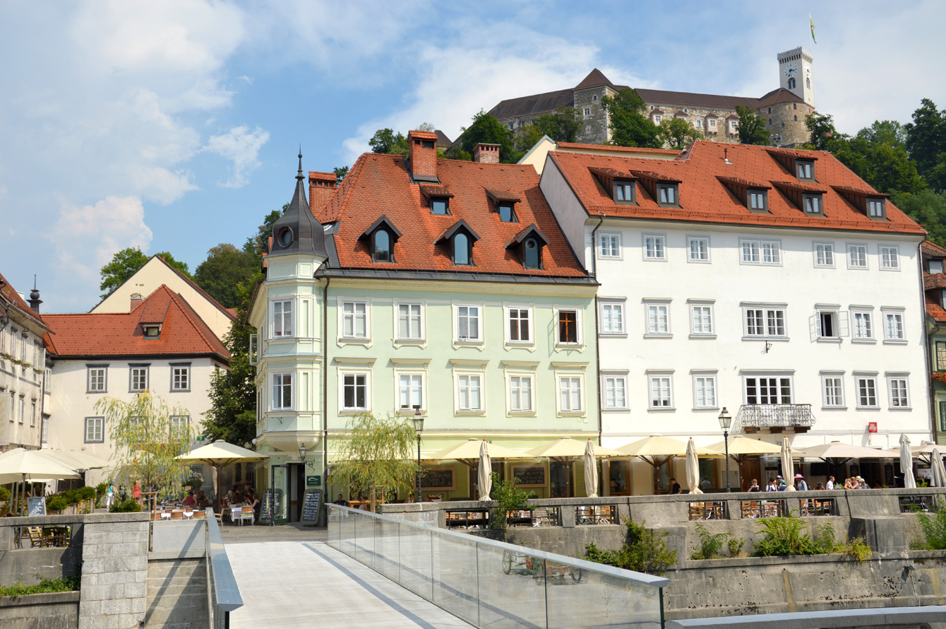 Old Town - the castle in the background