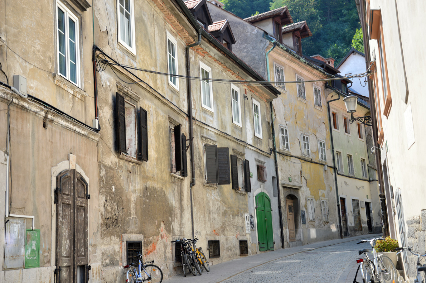 An old, beautiful street leading to the castle