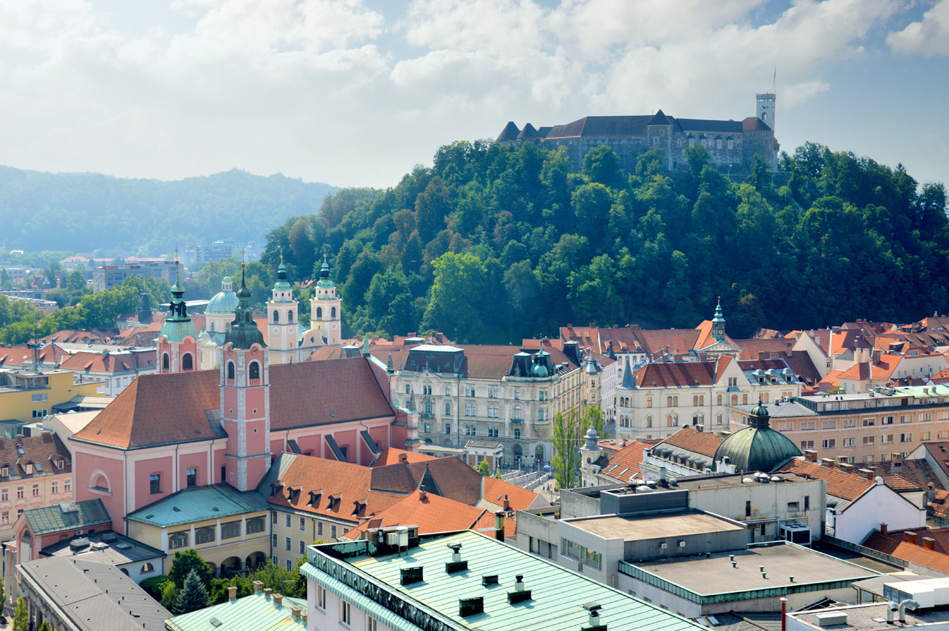 View from Neboticnik - the castle and the old town
