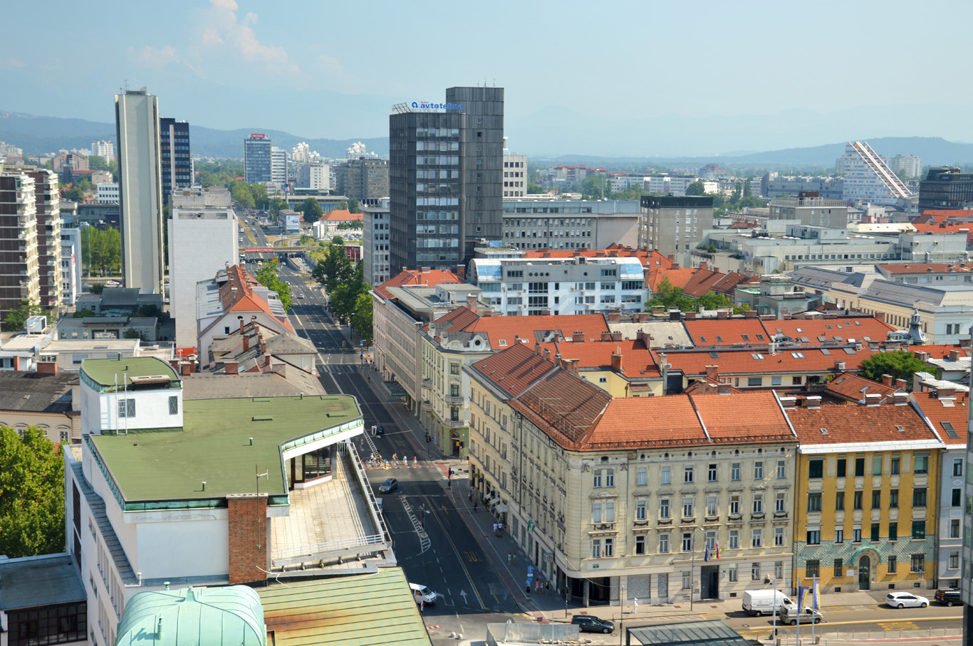 The communist architecture - view from Neboticnik