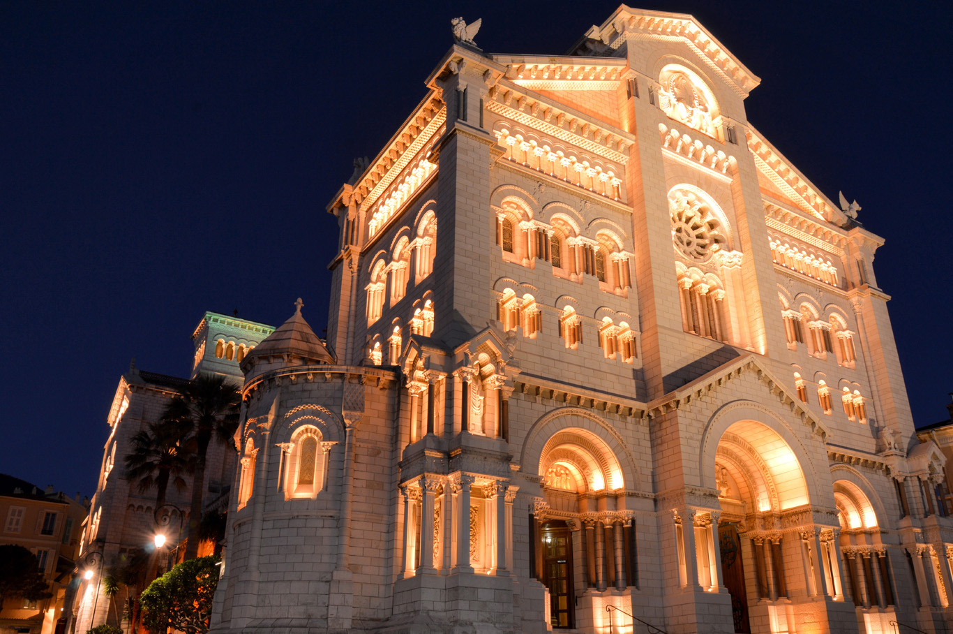 Illuminated Monaco Cathedral