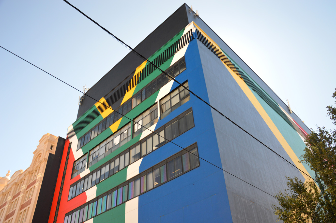 South African Flag on a building