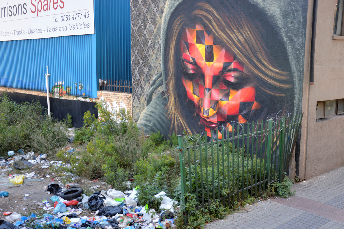 Graffiti and sad reality in Johannesburg