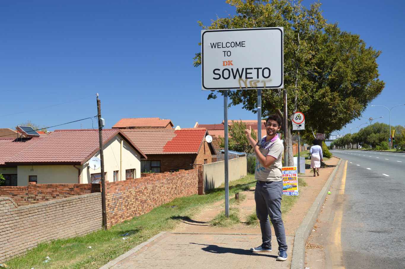 Welcome to Soweto sign
