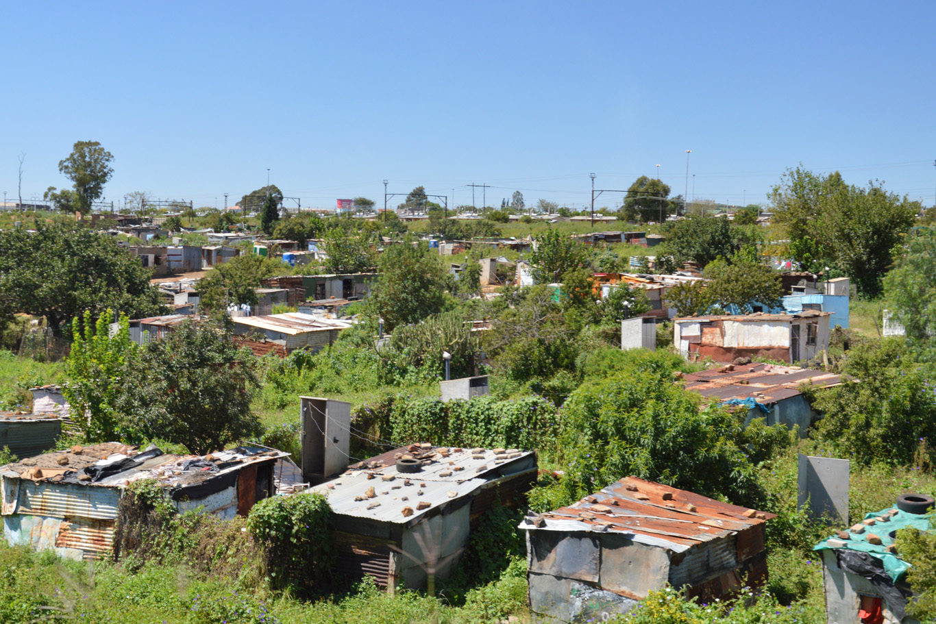 The houses of those most unfortunate in Soweto