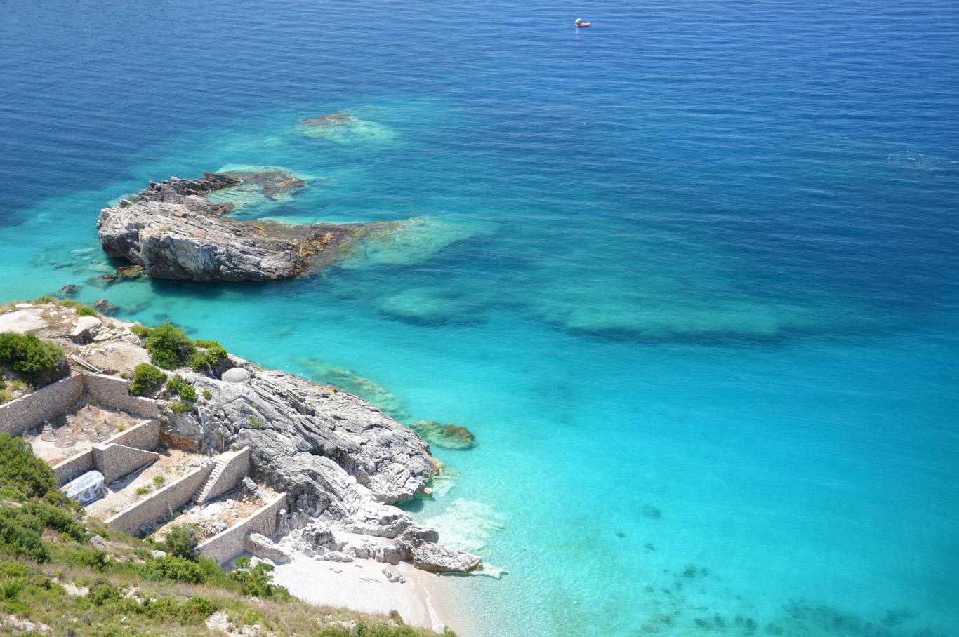 Incredibly blue sea