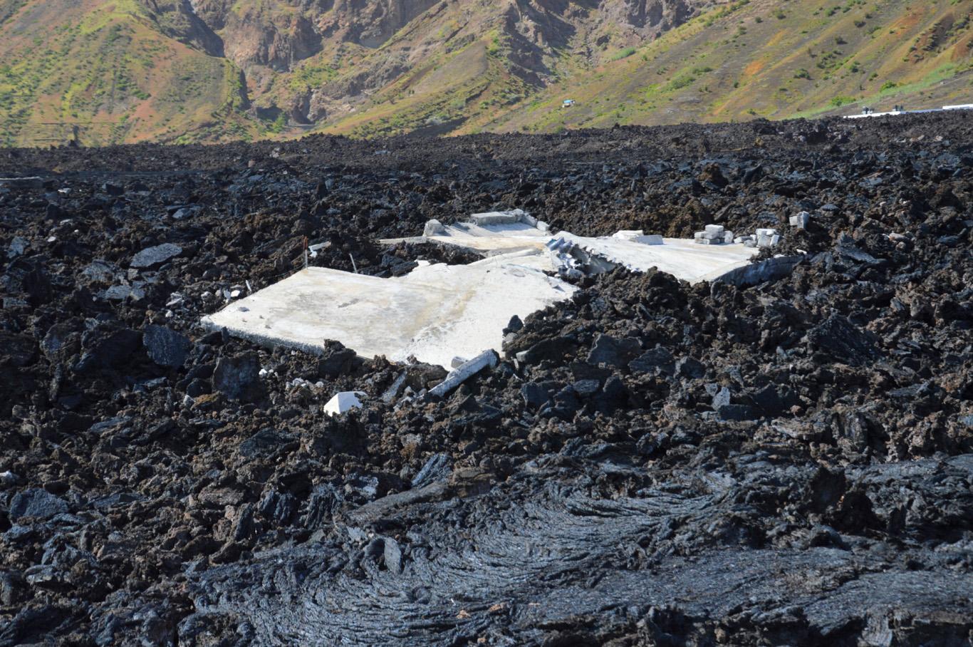 Lava covered the entire village