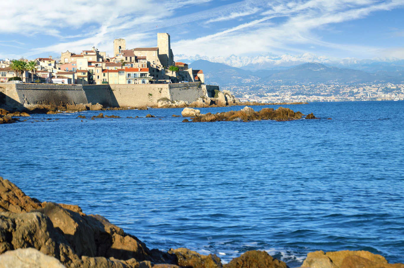 Antibes and the Alps
