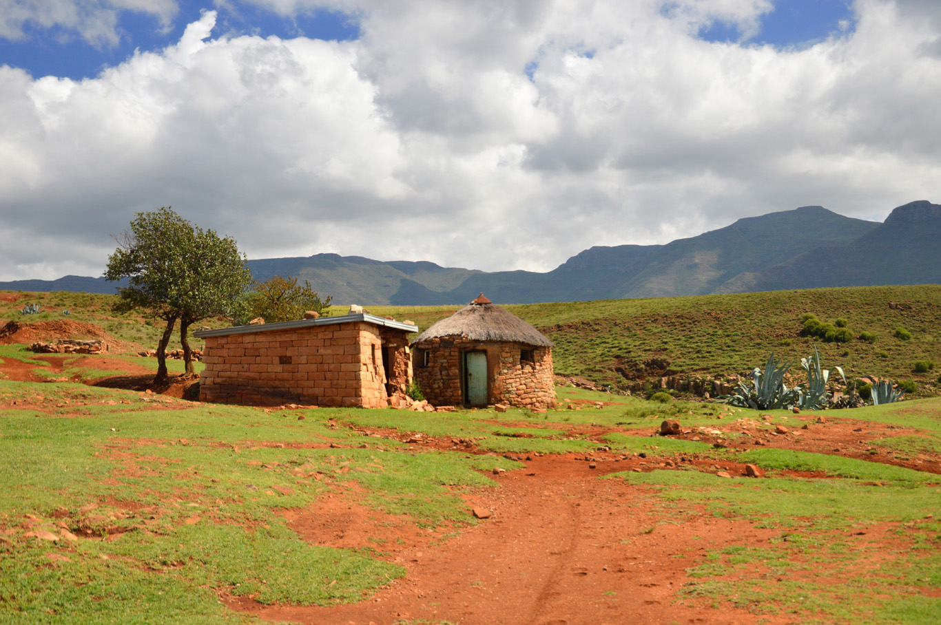 Lesotho countryside