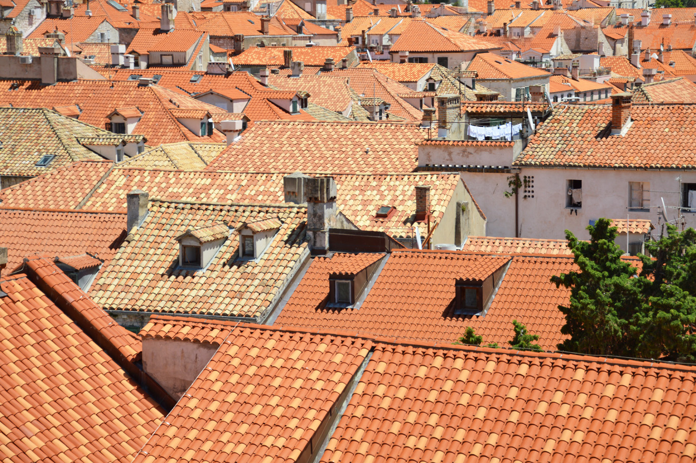 Beautiful, red roof tiles