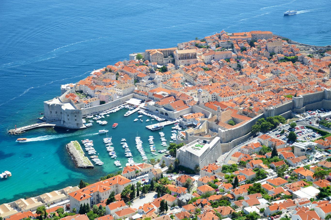 Amazing view of the entire walled old town