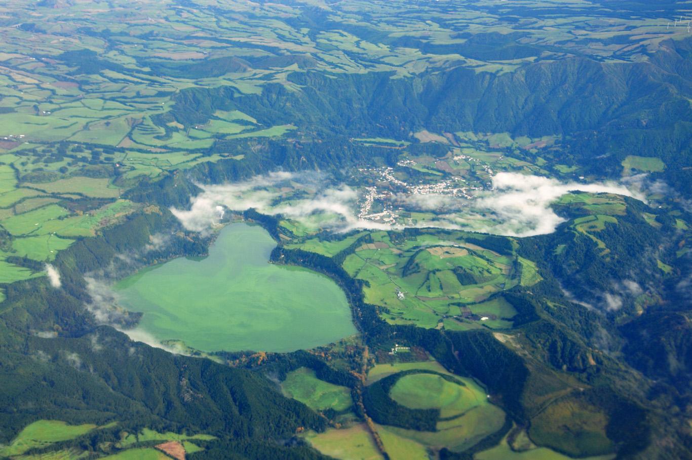 Furnas caldera - aerial view