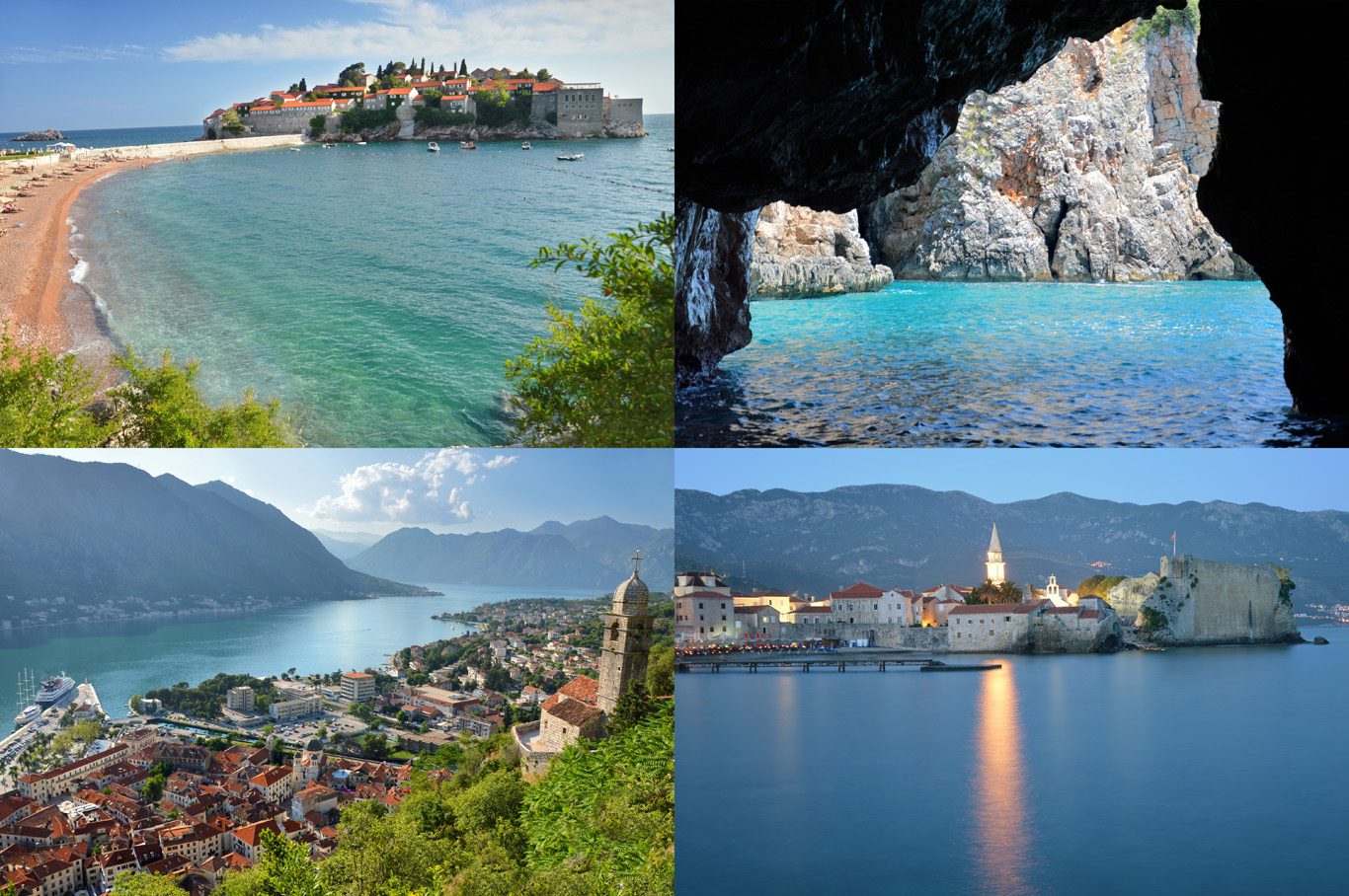 Montenegro: Sveti Stefan, Blue Cave at Zajnice, Kotor Bay and Budva