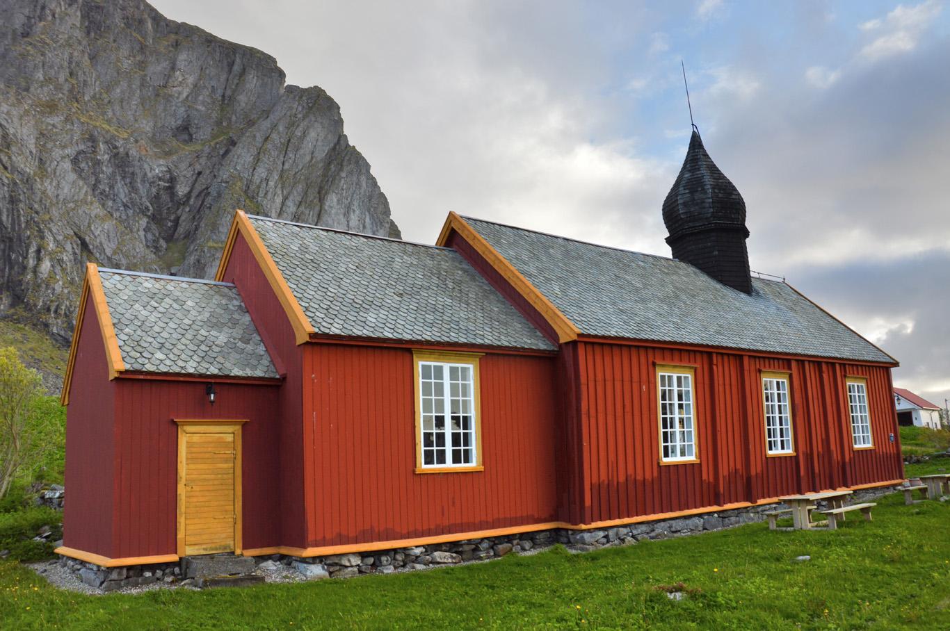 Wooden church in Nordland