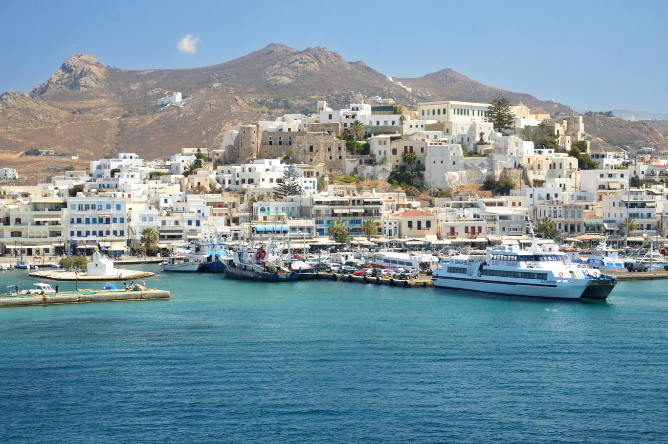 The island of Naxos on the way to Santorini