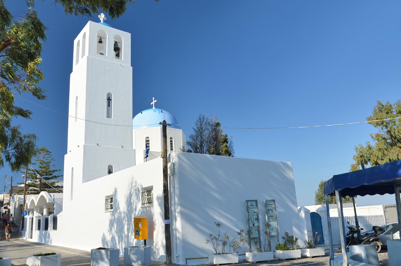 A whitewashed church near Imerovigli