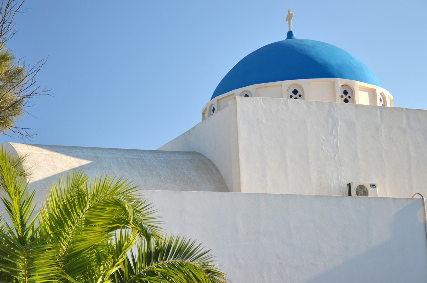 Another whitewashed church