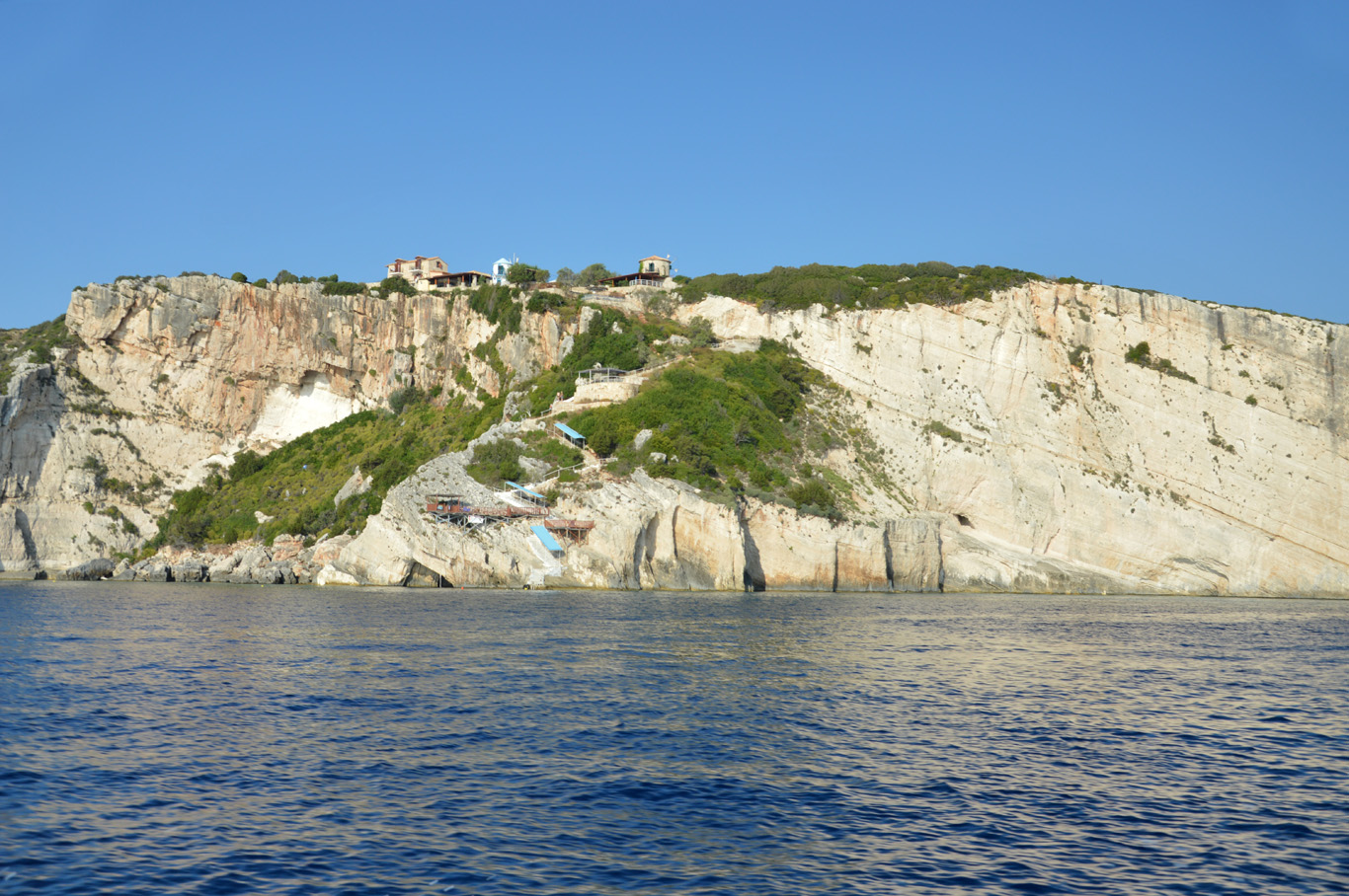 Approaching blue caves