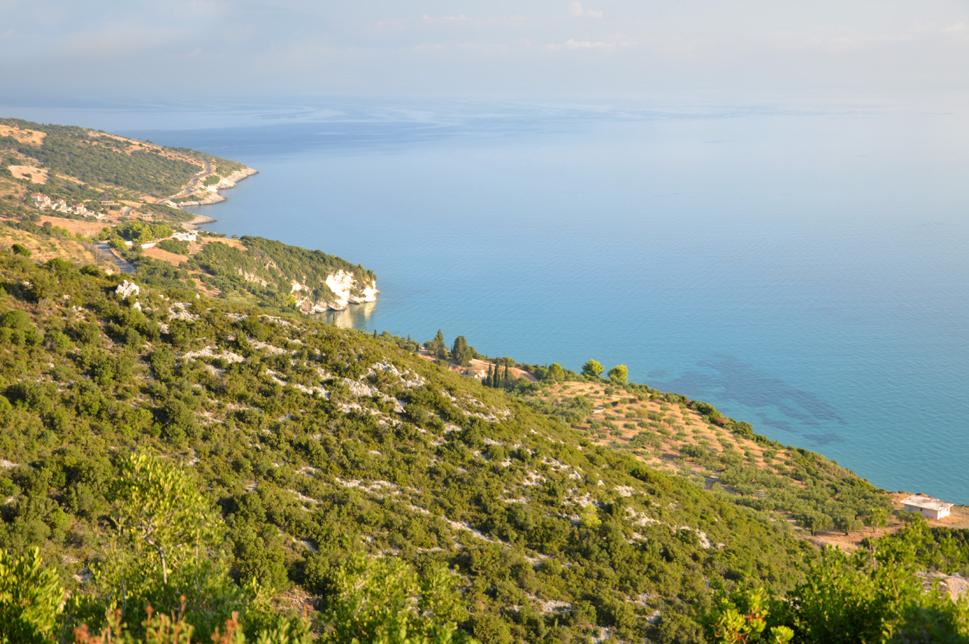 The coastline of Zakynthos