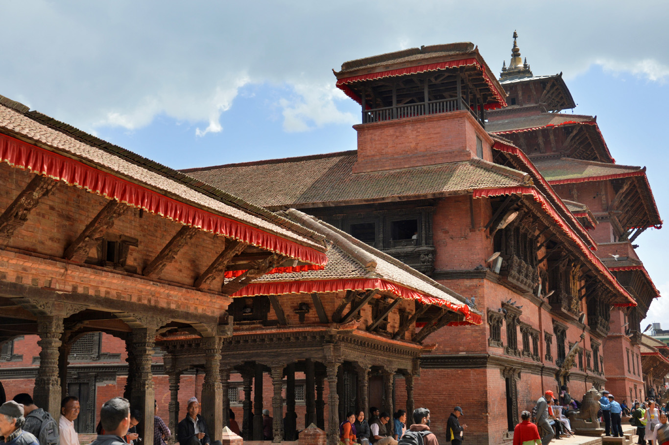 Beautiful Newa architecture at Patan Durbar Square