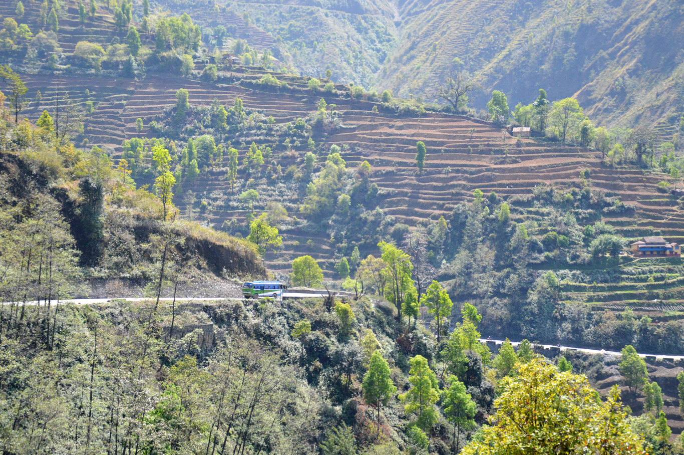Road leading to Kathmandu