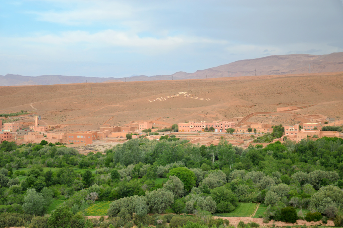 Green trees and red rocks - contrast