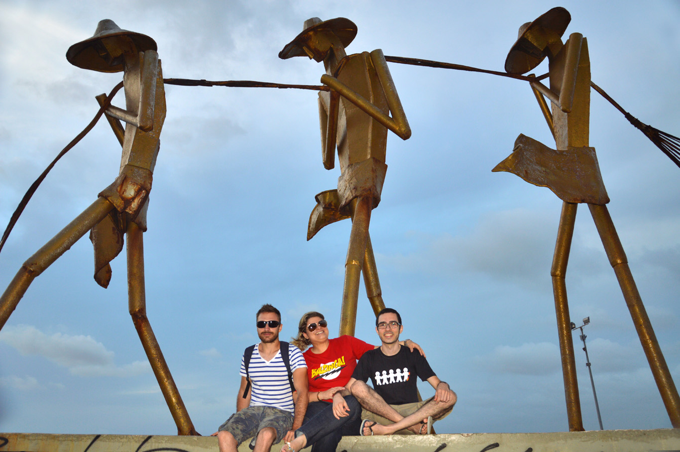 At the monument of the fishermen